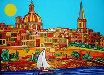 Valletta, Sommer, Malta, Bunt