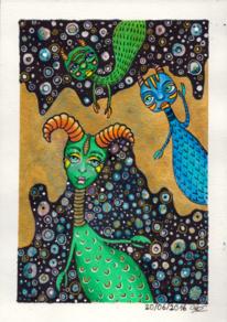 Fantasie, Teufelchen, Kindgerecht, Aquarell