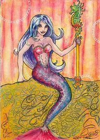 Mischtechnik, Meerjungfrau