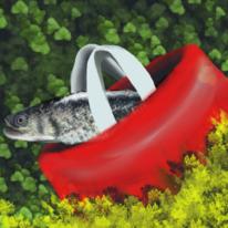 Digitale kunst, Tüte, Fisch