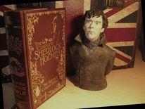 Sherlock, Keramik, Figur, Plastik