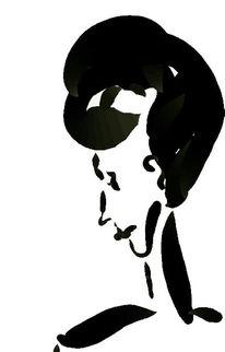 Profil, Schwarz weiß, Frau, Grafik