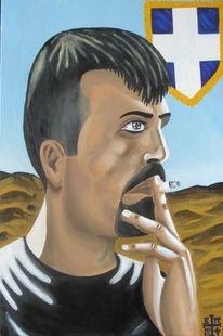 Zigarette, Mann, Christentum, Solomou