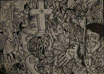 Welt, Zeichnung, Abstrakt, Geschichte