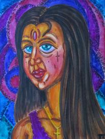Mädchen, Aquarellmalerei, Glaube, Frau