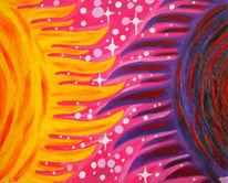 Sonne, Esoterik, Violett, Ölmalerei