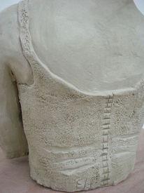 Rücken, Rückseite, Mieder, Plastik