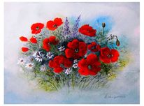 Frische, Blüte, Rot, Bund