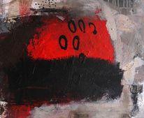Creme, Weiß, Struktur, Rot schwarz