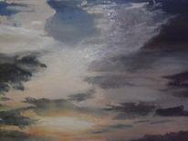 Sonnenuntergang, 2013, Ölmalerei, Malerei