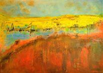 Himmel, Hitze, Acrylmalerei, Spachtel