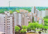 Stadt bremen hochhäuser, Zeichnungen, Skizzenbuch