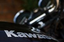 Motor, Motorrad, Schwarz, Kawasaki