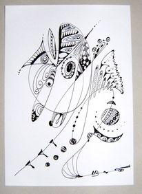 Schwarz weiß, Federzeichnung, Zeichnung, Zeichnungen