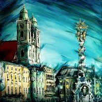 Säule, Hauptplatz, Kirche, Linz