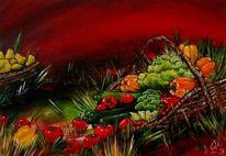 Gemüse, Korb, Stillleben, Gemüsekorb