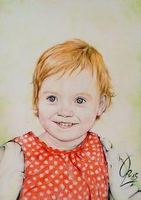 Kind, Kleinkind, Portrait, Rot