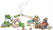Joint, Freude, Elben, Karikatur