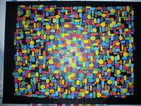 Schwarz, Bunt, Abstrakt, Farben