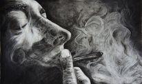 Pastellmalerei, Rauch, Schwarz, Zeichnungen