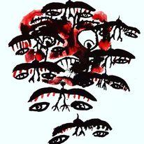 Außenseiter, Hände, Augen, Malerei