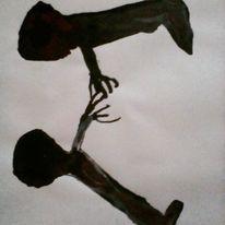 Hände, Schmerz, Blut, Malerei