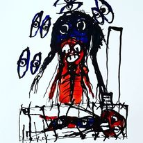 Kunst und psychiatrie, Outsider art, Artbrut, Malerei