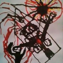 Hände, Labyrinth, Malerei, Psychiatrie