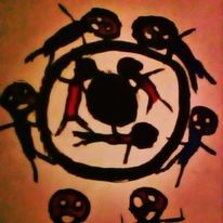 Labyrinth, Irre, Schmerz, Malerei