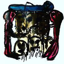 Zusammenstellung, Outsider art, Blut, Malerei