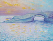 Malerei, Sonnenuntergang