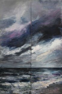 Welle, Wolken, Meer, Brandung
