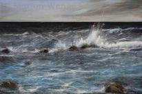 Wasser, Meer, Wolken, Landschaft