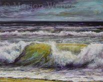 Brandung, Meer, Acrylmalerei, Wasser