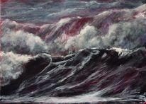 Meer, Welle, Wasser, Acrylmalerei
