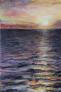 Acrylmalerei, Landschaftsmalerei, Malerei, Meer