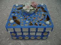 Mosaik, Spiegel, Porzelan, Box