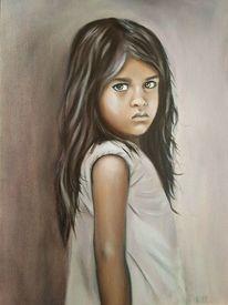 Portrait, Ölmalerei, Kind, Realismus