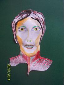 Frei, Aquarellmalerei, Frau, Farben