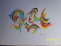 Pastellmalerei, Abstrakt, Farben, Malerei