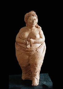 Ton, Skulptur, Frau, Keramikfigur