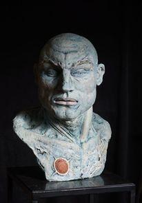 Torso, Kopf, Mann skulptur, Figurativ