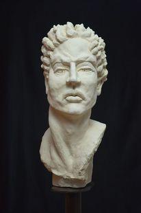 Mann, Figurativ, Skulptur, Kopf
