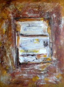 Pigmente, Tor, Acrylmalerei, Fenster