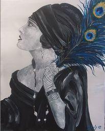 Acrylmalerei, Art deco, Art nouveau, Malerei
