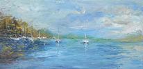 See, Ölmalerei, Boot, Gemälde
