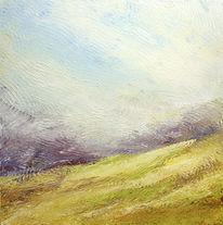Sommer, Gelb, Acrylmalerei, Grün