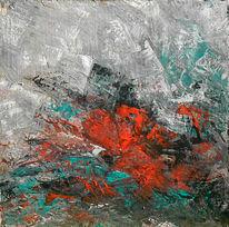 Abstrakt, Schwarz, Rot, Grau