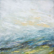 Gemälde, Grün, Landschaft, Himmel