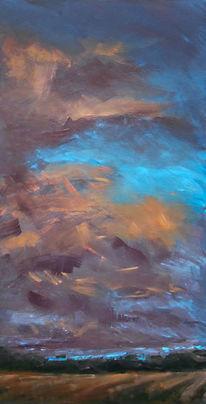 Licht, Himmel, Gemälde, Wolken